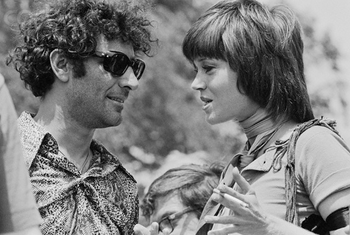 Abbie Hoffman and Jane Fonda
