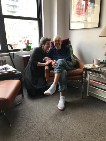 Karen Green with Al Jaffee