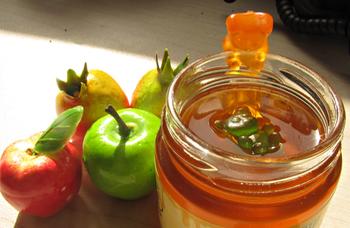 Apples, honey, and pomegranate