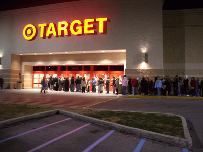 Lines outside Target awaiting the beginning of Black Friday shopping
