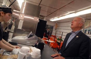 Joe Biden ordering fast food