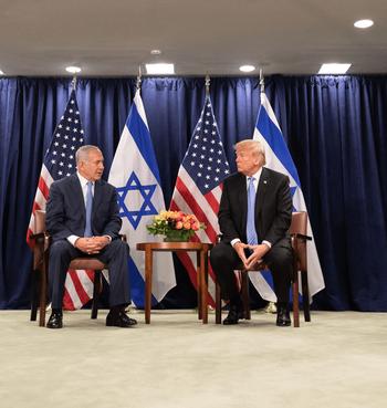 Prime Minister Benjamin Netanyahu and President Donald Trump