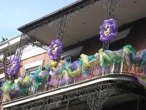 New Orleans Mardi Gras balcony