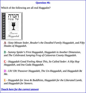 RASHI, RAMBAM and HAGGADAH-LAMADINGDONG question about Haggadot.