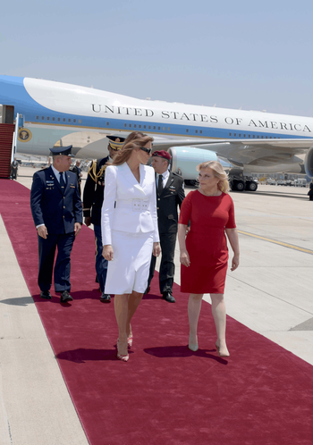 Sara Netanyahu with Melania Trump