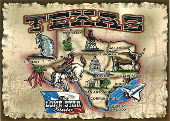 Texas-Lone Star State post card