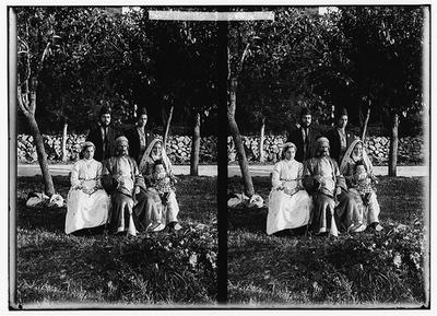 Costumes, characters, etc. Group of Yemenite Jews circa 1900